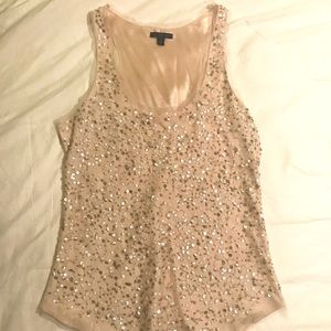 Light pink sequined American Eagle tank top
